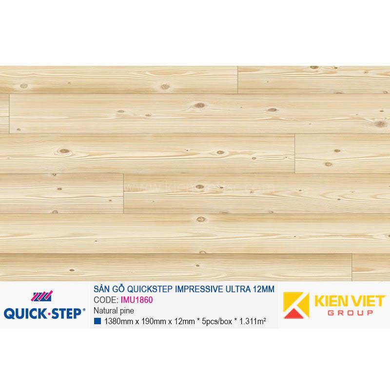 Sàn gỗ Quickstep Impressive Ultra Natural pine IMU1860 | 12mm