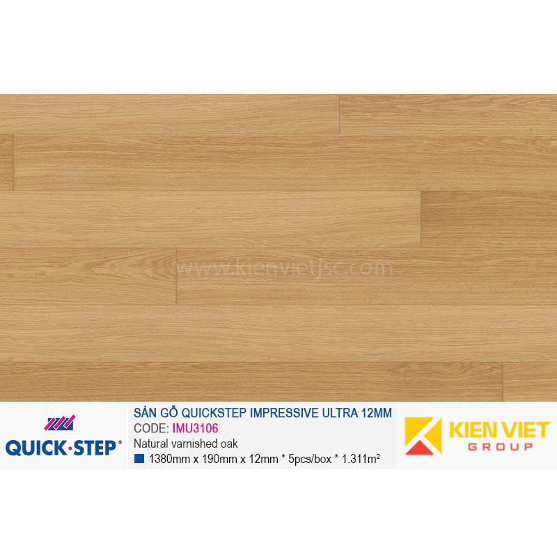 Sàn gỗ Quickstep Impressive Ultra Natural varnished oak IMU3106 | 12mm