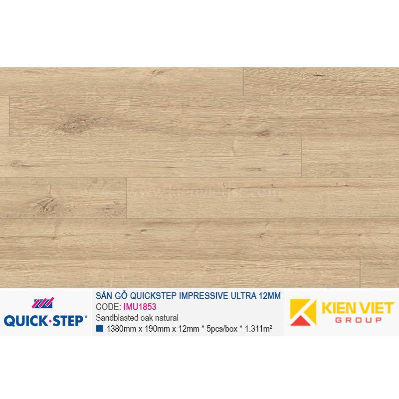 Sàn gỗ Quickstep Impressive Ultra Sandblasted oak natural IMU1853 | 12mm