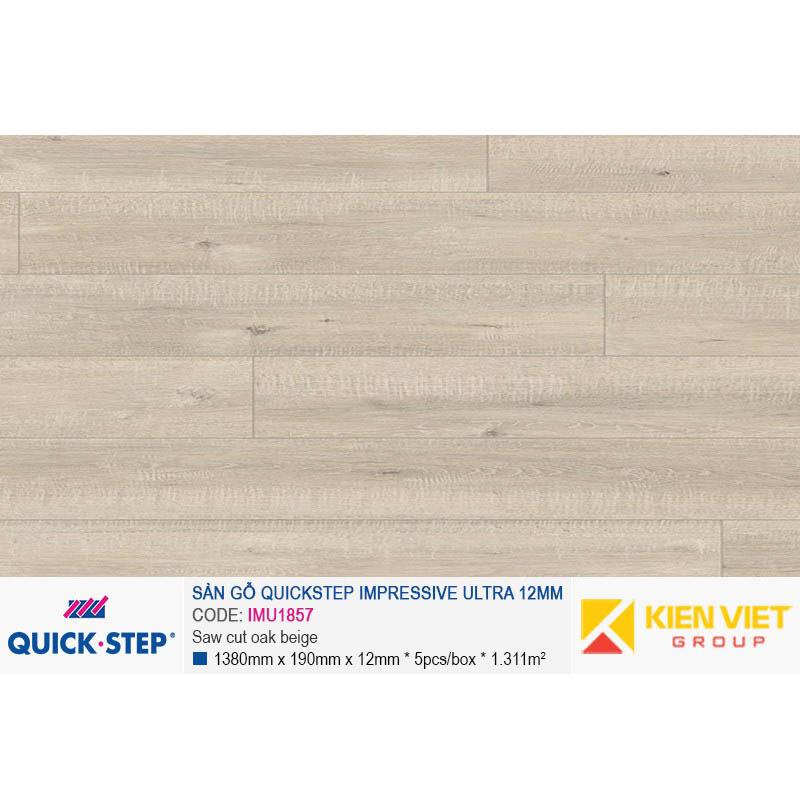 Sàn gỗ Quickstep Impressive Ultra Saw cut oak beige IMU1857 | 12mm