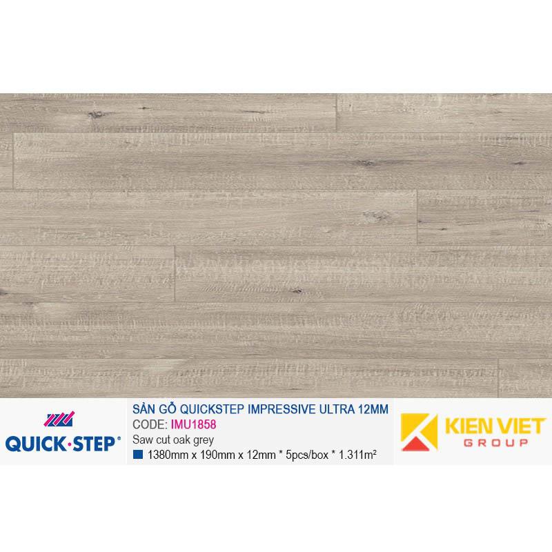Sàn gỗ Quickstep Impressive Ultra Saw cut oak grey IMU1858 | 12mm