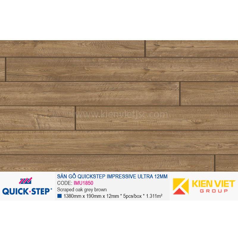 Sàn gỗ Quickstep Impressive Ultra Scraped oak grey brown IMU1850 | 12mm