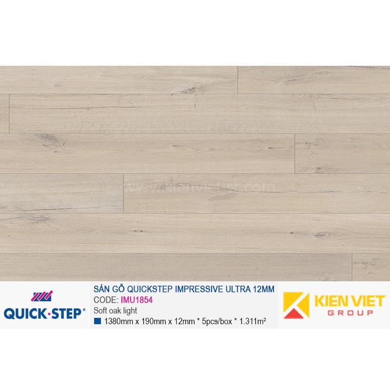 Sàn gỗ Quickstep Impressive Ultra Soft oak light IMU1854 | 12mm