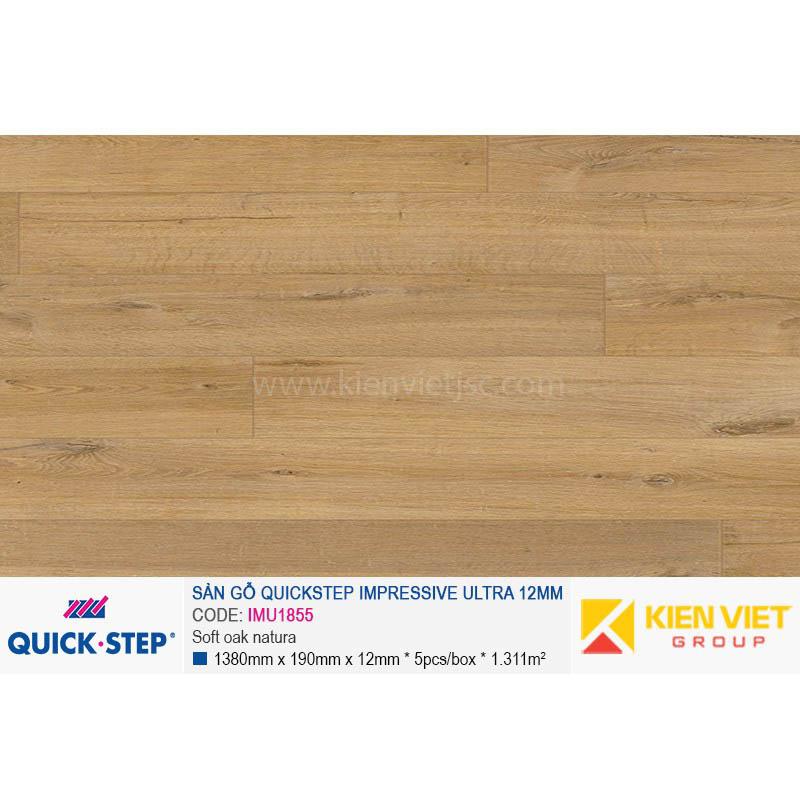 Sàn gỗ Quickstep Impressive Ultra Soft oak natura IMU1855 | 12mm