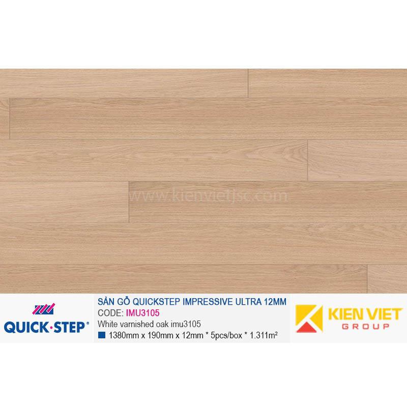 Sàn gỗ Quickstep Impressive Ultra White varnished oak IMU3105 | 12mm