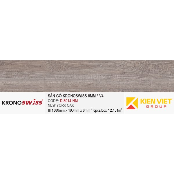 Sàn gỗ Kronoswiss D8014NM New york oak | 8mm