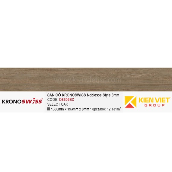 Sàn gỗ Kronoswiss D8305BD Select Oak | 8mm