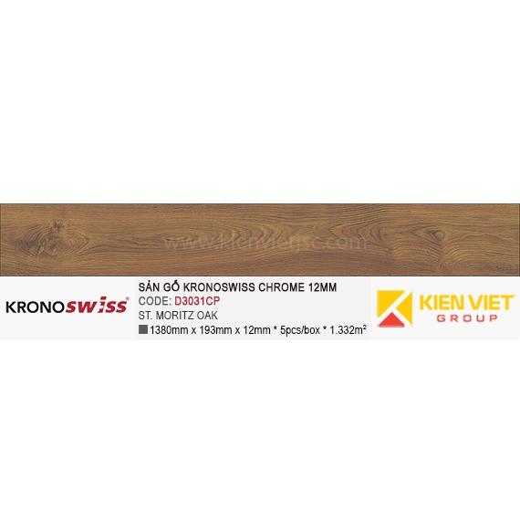 Sàn gỗ Kronoswiss D3031CP St.Moritz Oak | 12mm