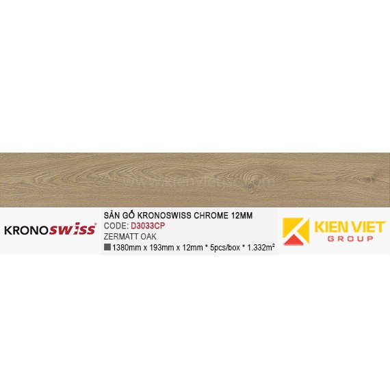 Sàn gỗ Kronoswiss D3033CP Zermatt Oak | 12mm