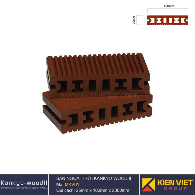 sàn gỗ ngoà trời Kankyo-wood II | MKV01