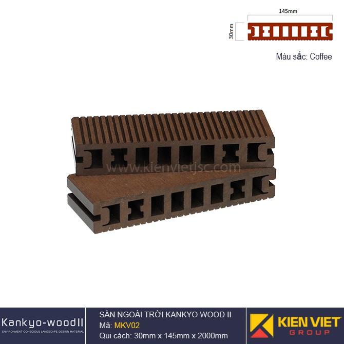 Sàn gỗ ngoài trời Kankyo-wood II | MKV02 Coffee
