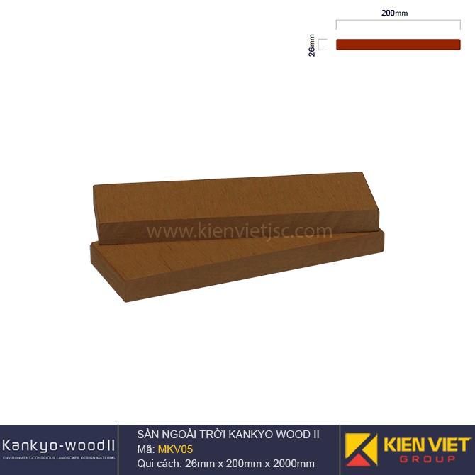 Sàn gỗ ngoài trời Kankyo-wood II | MKV05