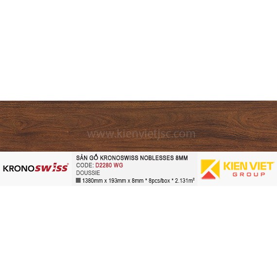 Sàn gỗ Kronoswiss D2280WG DOUSSIE | 8mm