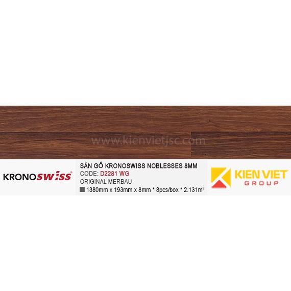Sàn gỗ Kronoswiss D2281WG ORIGINAL MERBAU | 8mm