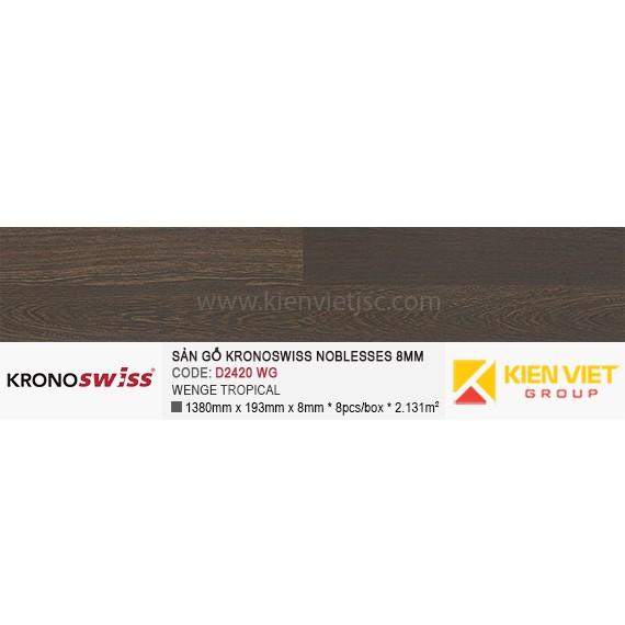 Sàn gỗ Kronoswiss D2420WG WENGE TROPICAL | 8mm