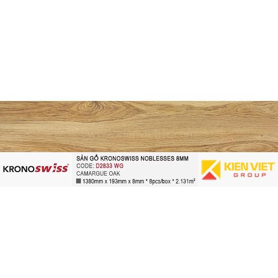 Sàn gỗ Kronoswiss D2833WG CAMARGUE OAK | 8mm