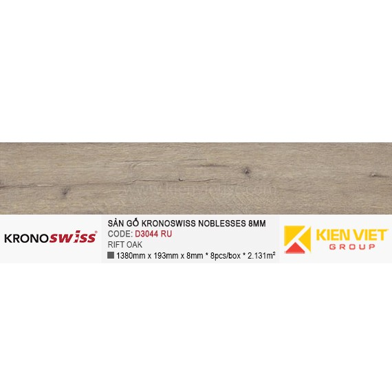 Sàn gỗ Kronoswiss D3044RU RIFT OAK | 8mm