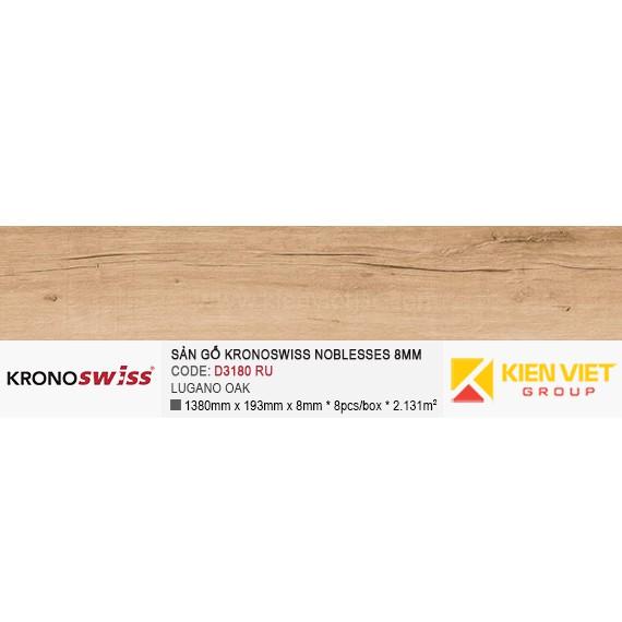 Sàn gỗ Kronoswiss D3180RU LUGANO OAK | 8mm