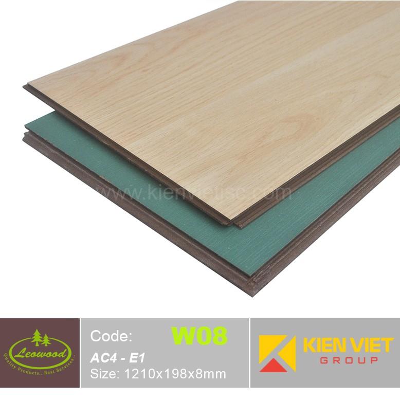 Sàn gỗ công nghiệp Thái lan Leowood W08 AC4 | 8mm