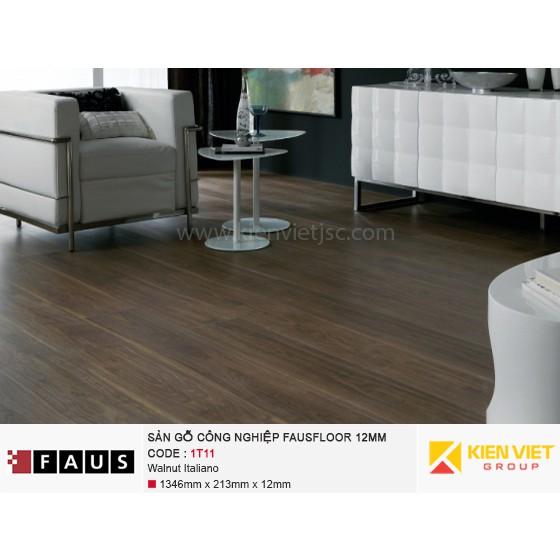 Sàn gỗ công nghiệp FausFloor 1T11 Walnut Italiano | 12mm