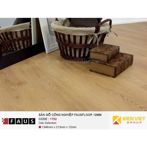 Sàn gỗ công nghiệp FausFloor 1T02 Oak Selection | 12mm