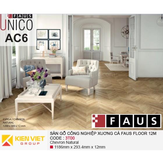Sàn gỗ xương cá Tây Ban Nha Fausfloor 3T00 | 12mm