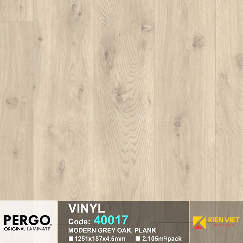 Sàn nhựa hèm khoá Pergo 40017 | 4.5mm