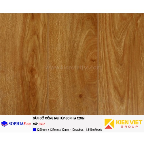 Sàn gỗ công nghiệp Sophia S602 | 12mm