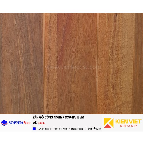 Sàn gỗ công nghiệp Sophia S604 | 12mm