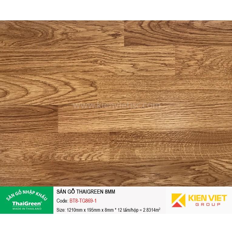 Sàn gỗ thái công nghiệp Thaigreen BT8-TG-869-1 | 8mm