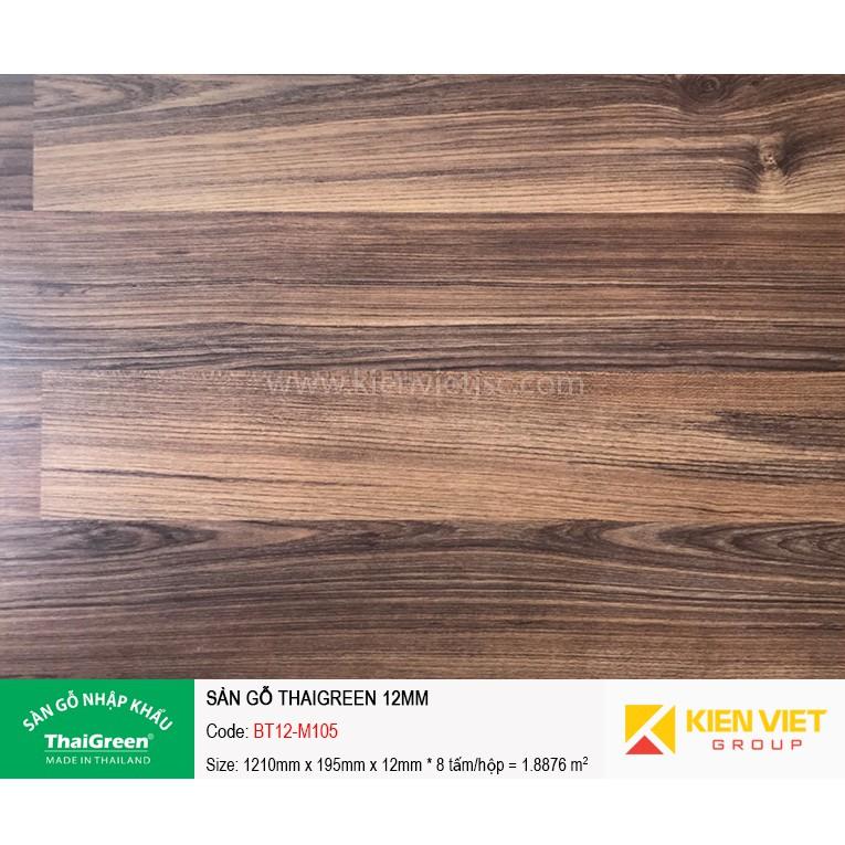 Sàn gỗ công nghiệp Thaigreen BT12-M105 | 12mm