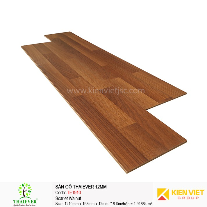 Sàn gỗ công nghiệp Thaiever TE1910 Scarlet Walnut | 12mm
