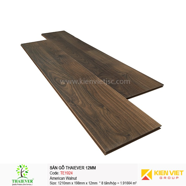 Sàn gỗ công nghiệp Thaiever TE1924 American Walnut | 12mm
