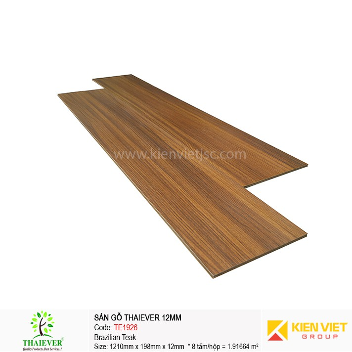 Sàn gỗ công nghiệp Thaiever TE1926 Brazilian Teak | 12mm
