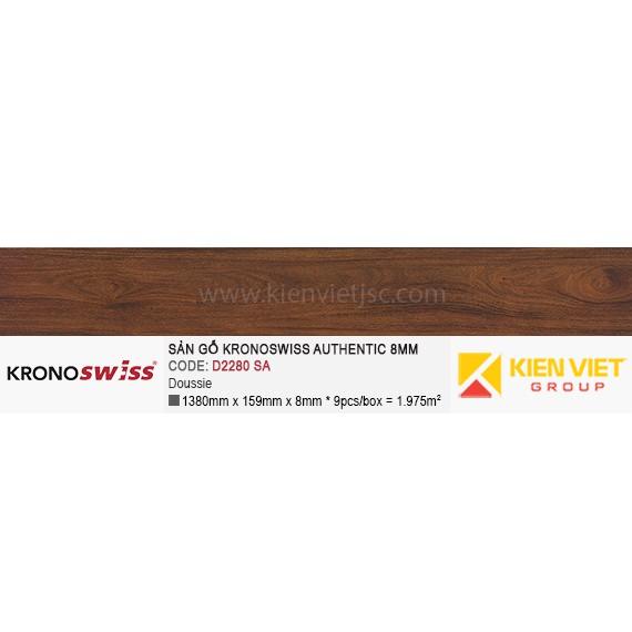 Sàn gỗ Kronoswiss Authentic D2280SA Doussie | 8mm