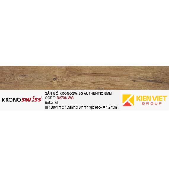 Sàn gỗ Kronoswiss Authentic D2708WG Bulternut | 8mm
