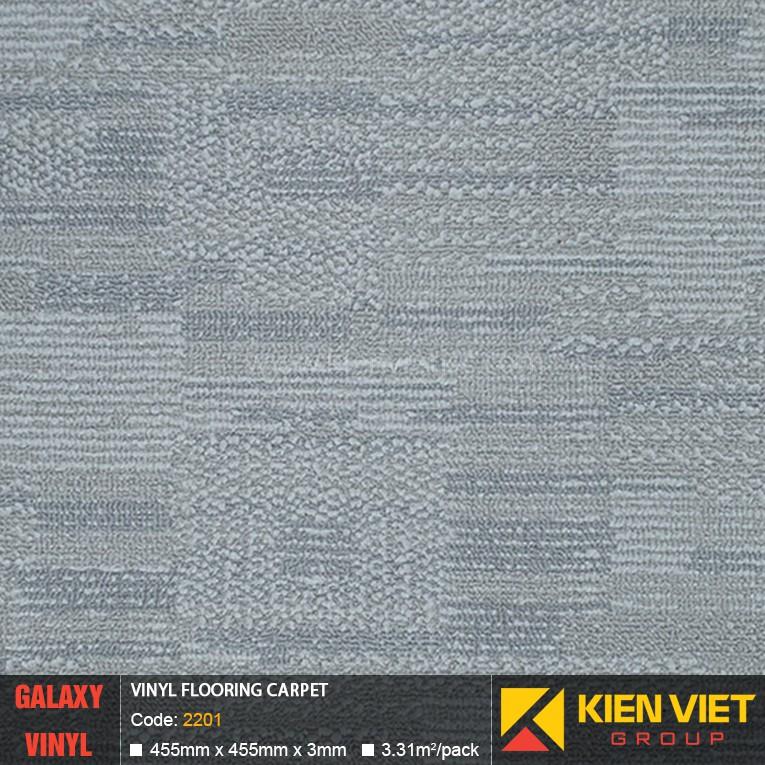 Sàn nhựa dán keo Galaxy vân thảm 2201 | 3mm