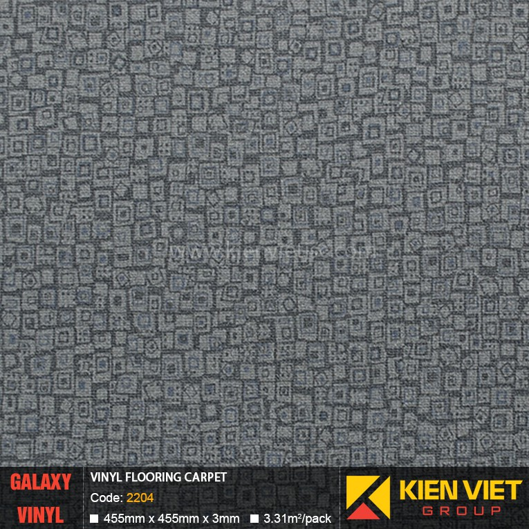 Sàn nhựa dán keo Galaxy vân thảm 2204 | 3mm