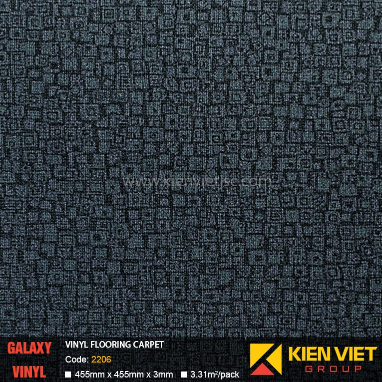 Sàn nhựa dán keo Galaxy vân thảm 2206 | 3mm