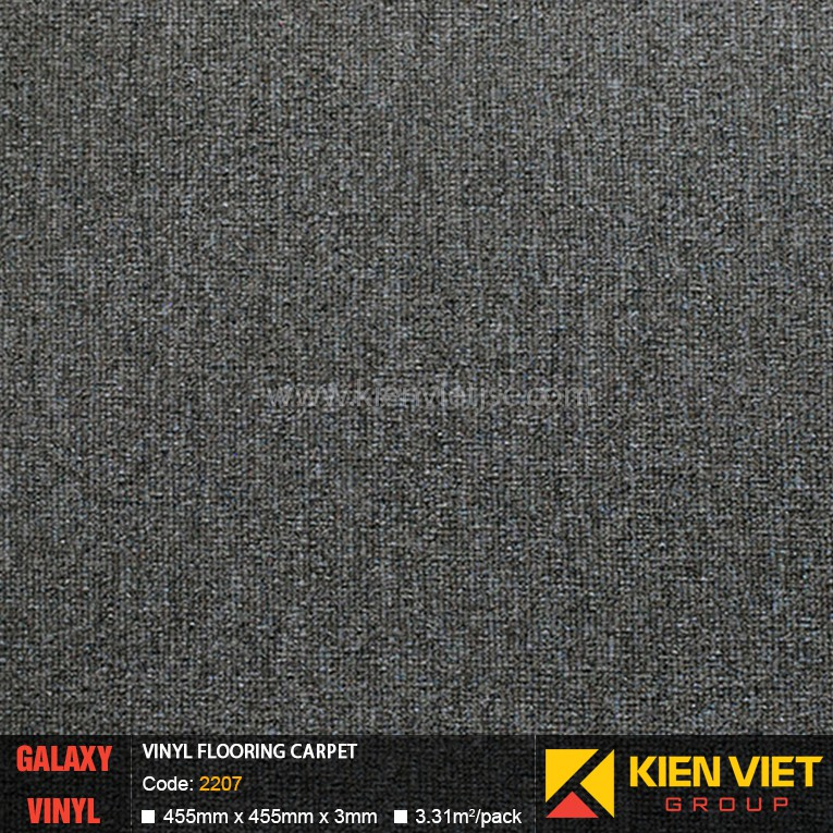 Sàn nhựa dán keo Galaxy vân thảm 2207 | 3mm
