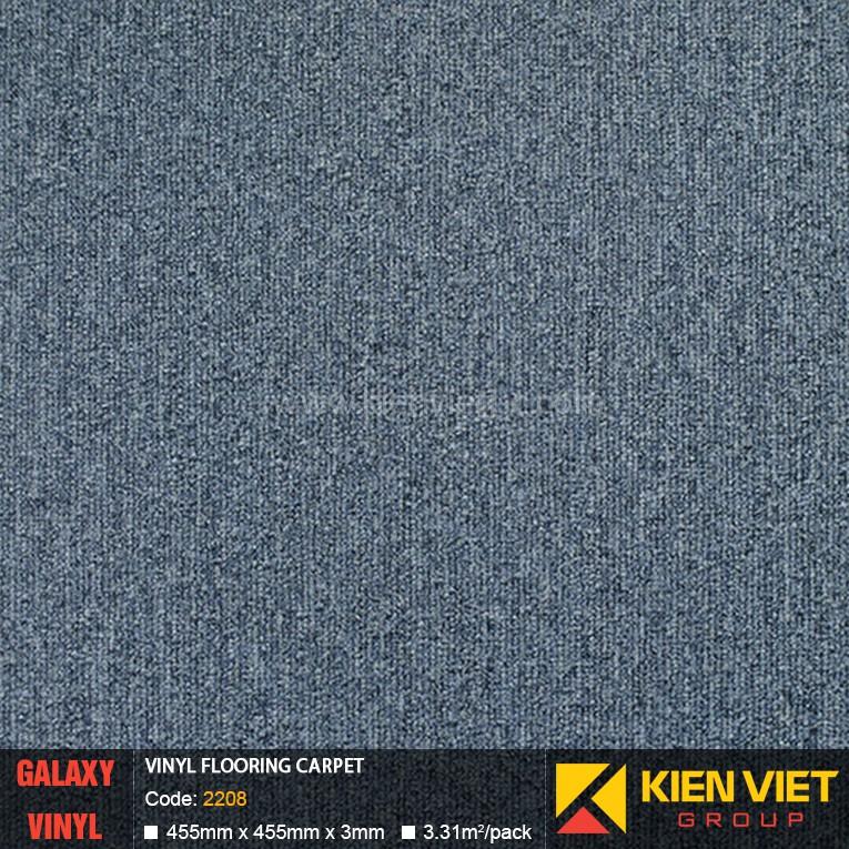 Sàn nhựa dán keo Galaxy vân thảm 2208   3mm