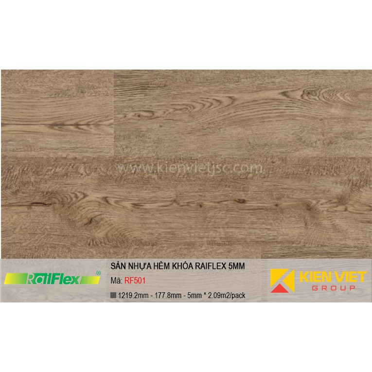 Sàn nhựa hèm khóa Raiflex RF501 | 5mm
