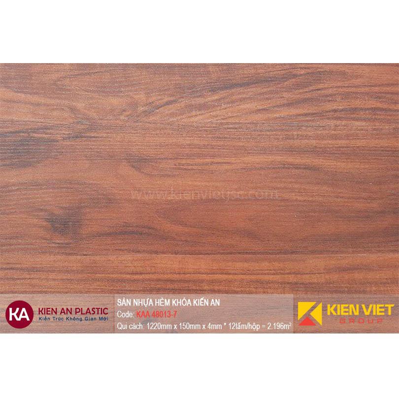 Sàn nhựa hèm khóa Kiên An KAA 48013-7 | 4mm