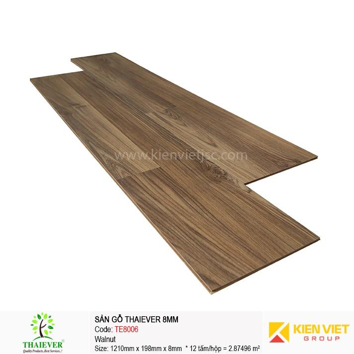Sàn gỗ công nghiệp Thaiever TE8006 Walnut | 8mm