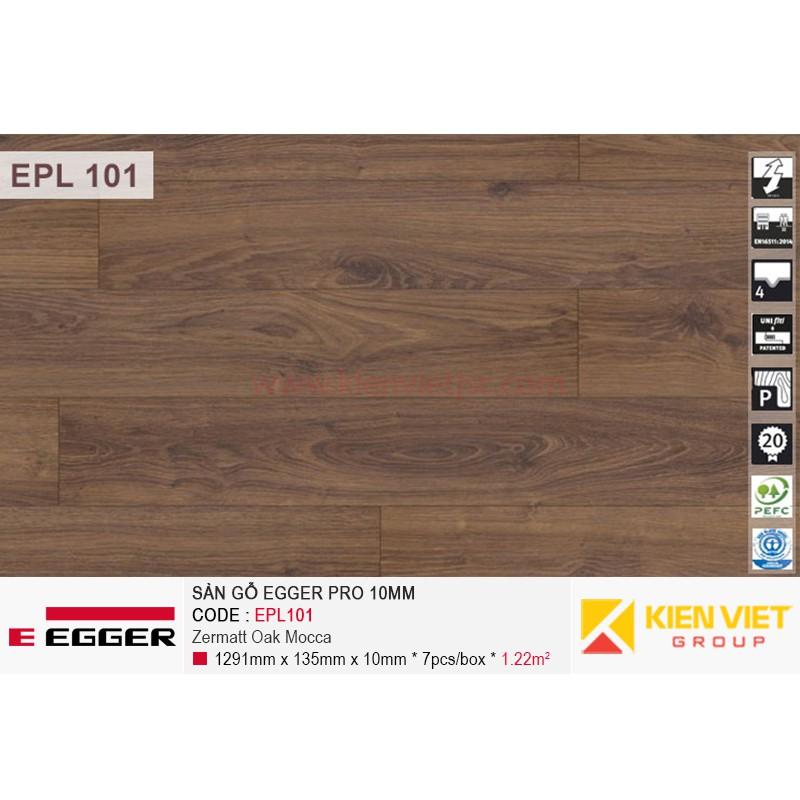 Sàn gỗ Egger Pro EPL101 Zermatt Oak Mocca | 10mm