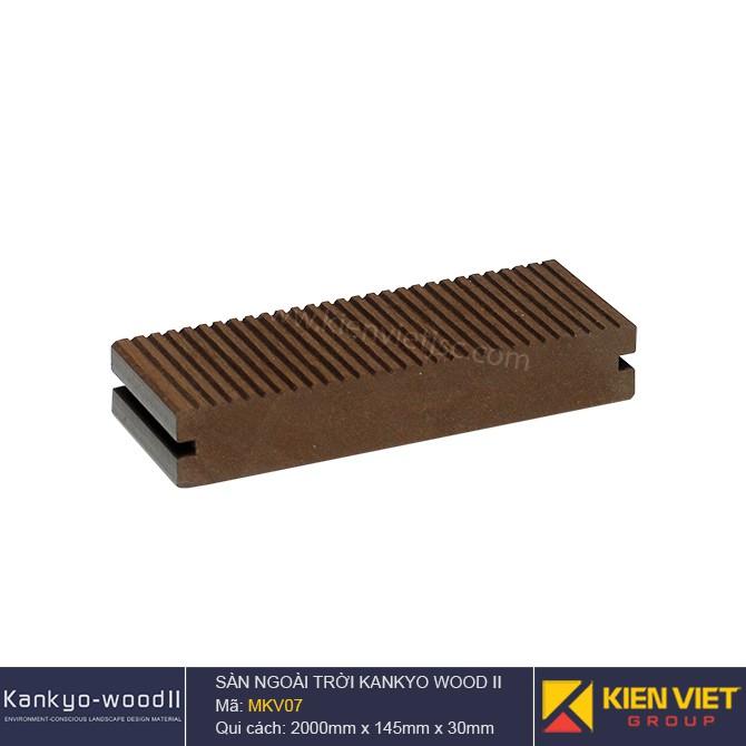 Sàn gỗ ngoài trời Kankyo-wood II | MKV07