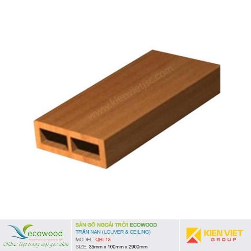 Tấm ốp trần nan EcoWood QBI-13 | 35x100mm