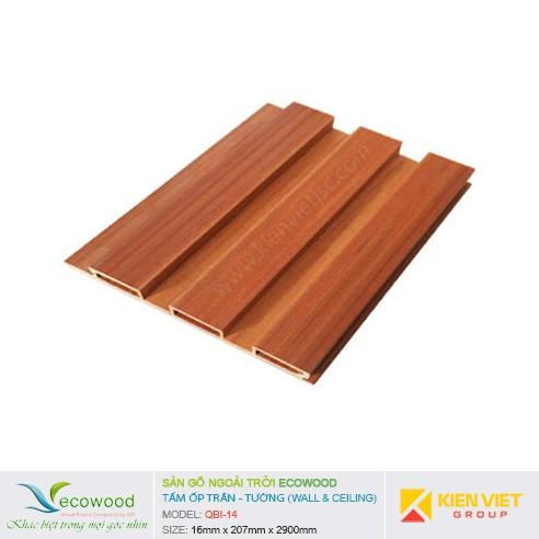 Tấm ốp tường trần EcoWood QBI-14   16x207mm