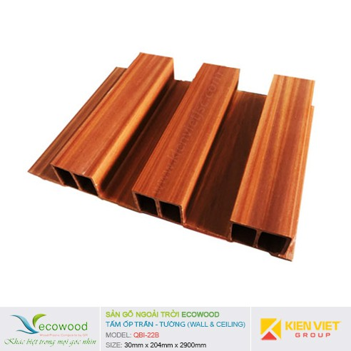 Tấm ốp tường trần EcoWood QBI-22B   30x204mm