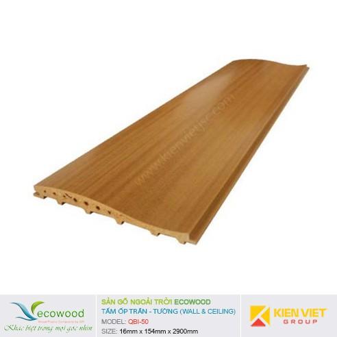 Tấm ốp tường trần EcoWood QBI-50   16x154mm